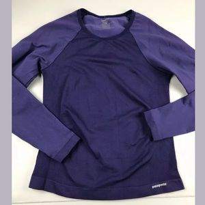 Patagonia Stretch Purple Base Layer Long Sleeve M
